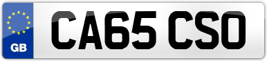 Plate image for registration plate CA65CSO