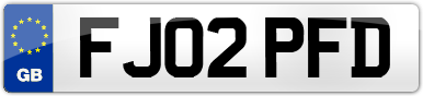 Plate image for registration plate FJ02PFD