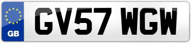 Plate image for registration plate GV57WGW