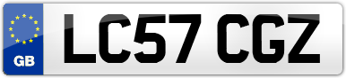 Plate image for registration plate LC57CGZ