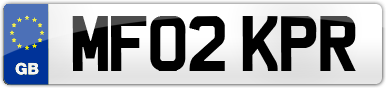 Plate image for registration plate MF02KPR
