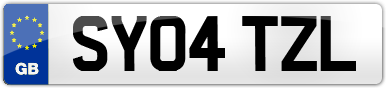 Plate image for registration plate SY04TZL