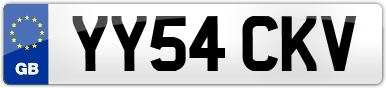 Plate image for registration plate YY54CKV