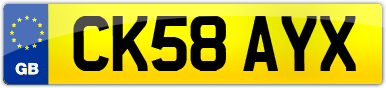 Plate image for registration plate CK58AYX