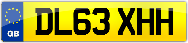 Plate image for registration plate DL63XHH