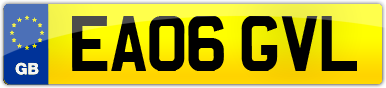 Plate image for registration plate EA06GVL
