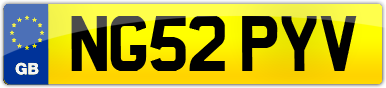 Plate image for registration plate NG52PYV