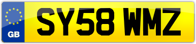 Plate image for registration plate SY58WMZ