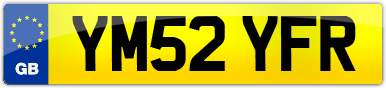 Plate image for registration plate YM52YFR